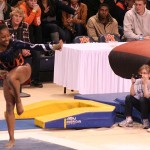 Rachel Inniss channels her inner Cam Newton, strikes Heisman pose in AU gymnastics first win