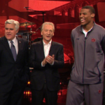 Cam Newton talks chins, scooters, and the NFL draft on 'The Tonight Show' with Jay Leno