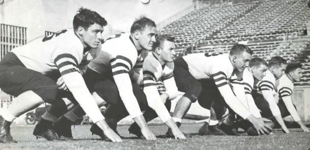 Dean Hallmark, Auburn offensive line, 1935.