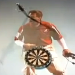 "Nick Saban takes sword to the face on ""Tosh.0"""