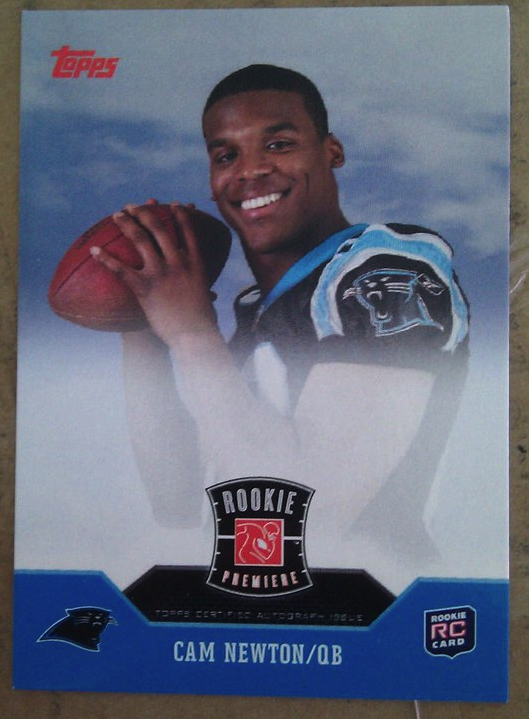 Behold Cam Newtons Rookie Premiere Topps Card
