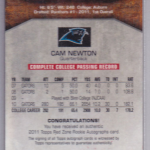 Rare Topps Football Card Lists Cam Newton As Having (Only) Played For Florida