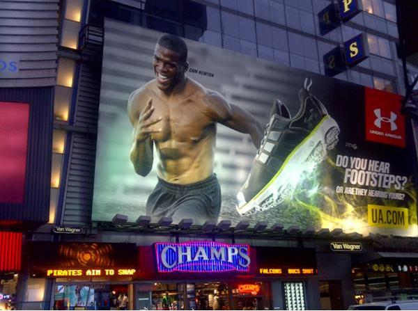 Gdzie mogę kupić gorąca wyprzedaż nowe promocje Cam Newton's Times Square Under Armour Billboard Exists!