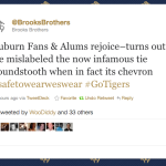 Brooks Brothers Repents, Changes Description of Auburn Tie From 'Houndstooth' To 'Chevron'