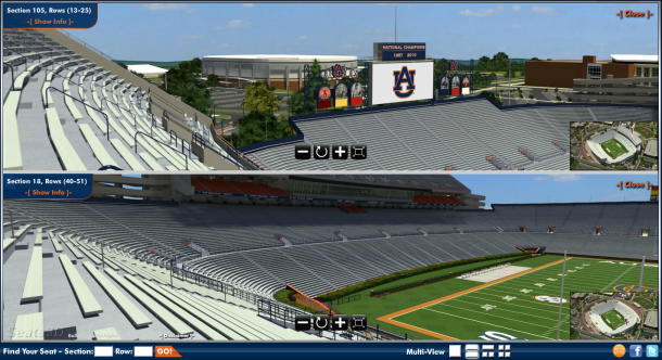 Auburn releases website featuring new 3d seating map of jordan hare