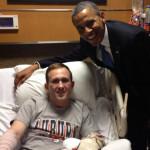 Obama visits injured serviceman and Auburn fan Josh Wetzel