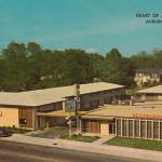 Vintage Heart of Auburn Motel Postcard