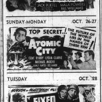Bodda Getta Box Office: Complete Auburn Movie Listings from Oct. 24, 1952, the fifth weekend of Auburn's Last Worst Season