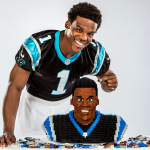 Cam Newton made out of LEGOs for Sports Illustrated Kids cover