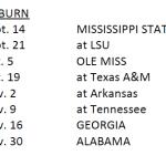 Auburn's 2013 SEC Schedule announced