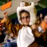 Kid in Tiger Costume Dances Her Tail Off During Auburn and Texas A&M Game