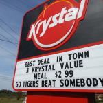 Auburn Krystal's marquee wants Tigers to 'Beat Somebody'