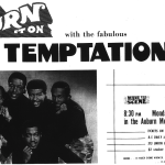 Ad for the The Temptations concert in Auburn in 1970