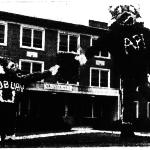 1959 Homecoming decorations celebrating Auburn becoming a university