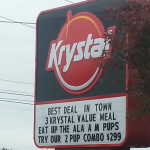 Krystal marquee settles for product promotion tie-ins vs. Alabama A & M