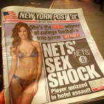 Auburn grad Katherine Webb on the cover of the New York Post in a bikini
