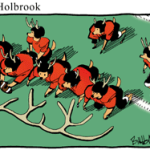 Auburn cartoonist legend Bill Holbrook's comic about performance-enhancing deer antlers (from 2009)