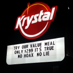 The Krystal Marquee offers 'no hoax' value meal
