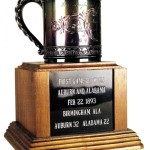 The First Game Between Auburn and Alabama Trophy