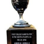 The First College Game Played In The South trophy