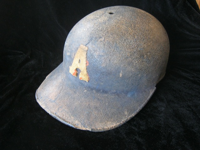 Old baseball helmet
