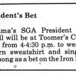 That time Bama's SGA president sang the Auburn fight song at Toomer's Corner