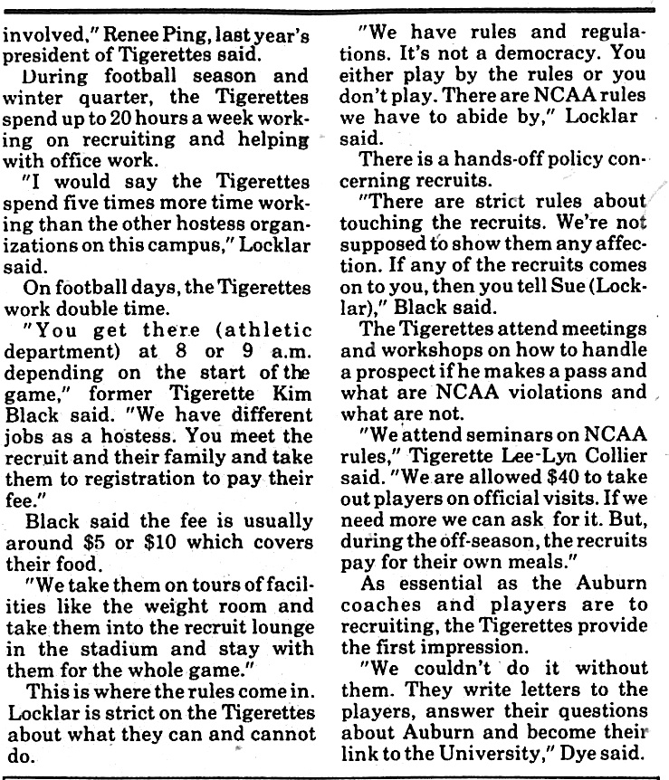 selena roberts tigerettes 2 6.2.1988