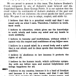 Shug Jordan had a copy of the first publication of the Auburn Creed with him on D-Day