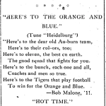 Skyrockets in Fight Song: Auburn cheers from 1913