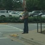 Just Jeff Foxworthy just walking abound Auburn