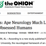 Auburn zoology study on 'Banana Brain' connection between ape and man makes The Onion