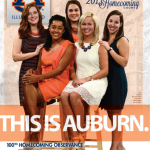 Auburn's homecoming court featured on cover of Western Carolina gameday program