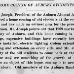 Auburn's first homecoming may actually have been 104 years ago—and America's first