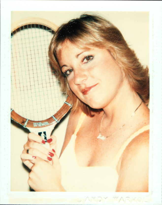 Chris Evert by Andy Warhol, 1977. Jule Collins Smith Museum of Fine Arts, Auburn University; gift of the Andy Warhol Foundation for the Visual Arts, Inc.