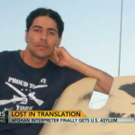 Awesome Afghan interpreter who liked posing with his 'War Eagle' humvee rescued from Afghanistan, makes headlines