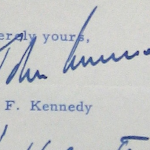 John F. Kennedy's letter to Auburn regarding a possible speaking engagement