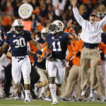 Hear Rod Bramblett's and Eli Gold's radio call of Chris Davis' final second missed field goal return to beat Bama in the Iron Bowl #miracle #omg