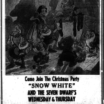 Bodda Getta Box Office: 'Snow White' Christmas Party at the Tiger Theatre, 1944