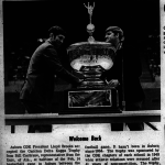 Photo of Bama returning the Foy ODK Trophy to Auburn in 1970