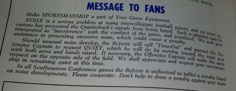 """Auburn fans were still asked to make """"sportsmanship part of their"""