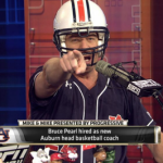 VIDEO: Bruce Pearl puts on Auburn football helmet, shouts 'War Eagle, baby! War Eagle! I'm back!' on ESPN's 'Mike & Mike'
