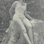 Loveliest of the Plains: Phylis Scales a tree stump, 1960