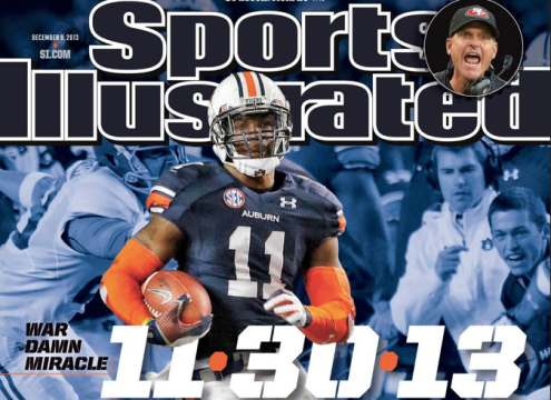 There's only one person smiling like he already knows on the Iron Bowl issue of Sports Illustrated. His name is Andrew Jarrett, and he's the best damn ball boy in America.