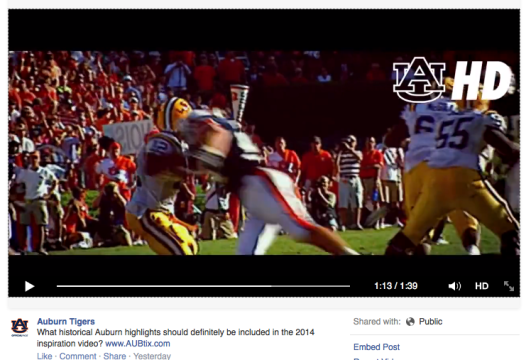 """Will Auburn fans be able to audit """"Form Tackling 101"""" before football games this season?"""