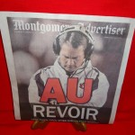 'SACKRIFICED': The front page of the Montgomery Advertiser's 2005 Iron Bowl sports section will make you smile