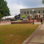 Last line of the Auburn Creed etched into new Toomer's Corner walkway