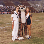 Aubie's first appearance at an Auburn football game (vs. Kansas State in 1979) was almost his last