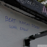 'War Eagle' graffiti appears on Abbey Road wall in London leading up to Auburn's game vs. Kansas State