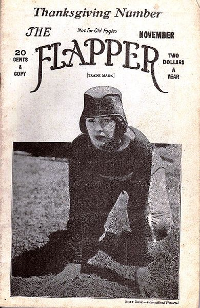 No, that's not Zelda posing as a football player on the cover of Flapper Magazine. But it might as well be.