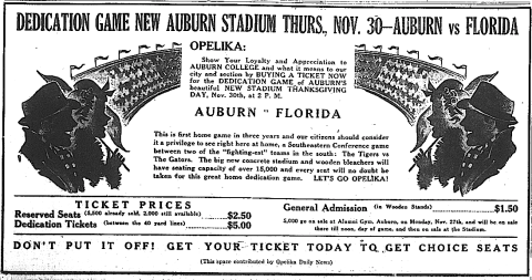 """The big new concrete stadium and wooden bleachers will have seating capacity of over 15,000…"""